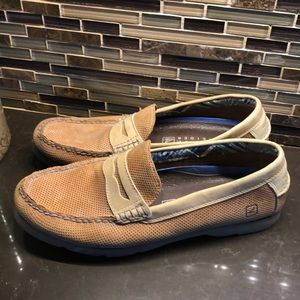 Sperry men's slip on loafers leather shoes